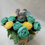 Baby Shower Blue and Lemon Small Bouquet 2